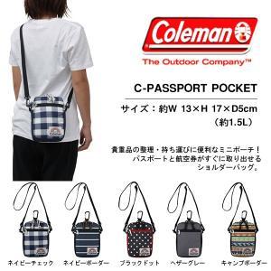 ショルダーバッグ コールマン Coleman メンズ レディース C-パスポートポケット ミニポーチ 国内正規代理店品 phants