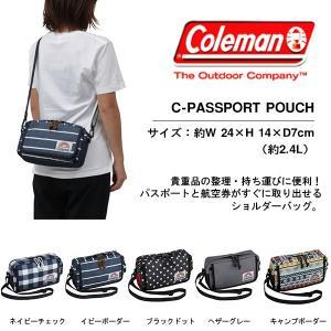 ショルダーバッグ コールマン Coleman メンズ レディース C-パスポートポーチ ポシェット 国内正規代理店品 phants