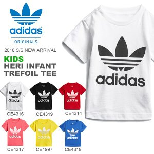 半袖Tシャツ adidas ORIGINALS アディダス オリジナルス ベビー キッズ 子供服 HERI INFANT TREFOIL TEE ロゴTシャツ 2018春夏新作
