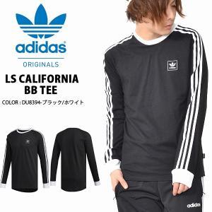長袖 Tシャツ adidas ORIGINALS アディダス オリジナルス メンズ LS CALIFORNIA BB TEE ロンT ビッグロゴ ロゴTシャツ 3本ライン 2019春新作 FUE54
