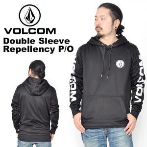 プルオーバー VOLCOM ボルコム メンズ Double Sleeve Repellency P/O 撥水 ロゴ パーカー トレーナー G24519JA 2018-2019冬新作 18-19 日本正規品 得割10|phants