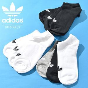 靴下 3足セット adidas Originals メンズ TREFOIL ANKLE くるぶしソックス アディダス オリジナルス|phants