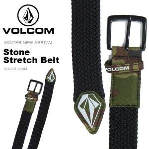 ベルト VOLCOM ボルコム メンズ Stone Stretch Belt ストレッチベルト カモフラ柄 スノーボード スキー J59519JB 2018-2019冬新作 18-19 日本正規品 得割10|phants