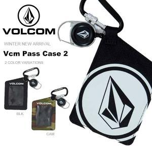 パスケース VOLCOM ボルコム メンズ Vcm Pass Case 2 カラビナ付き チケットホルダー スノーボード スキー J67519JG 2018-2019冬新作 18-19 日本正規品 得割10|phants