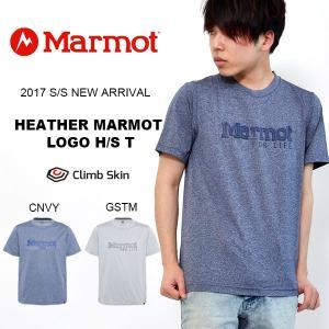 ネコポス対応!Tシャツ マーモット Heather Marmot Logo H/S T 半袖 ロゴ メンズ 紳士 アウトドア 登山 トレッキング キャンプ 2017春夏新作 26%off|phants