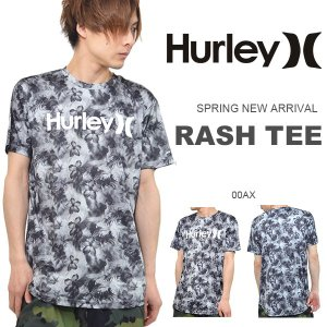 半袖ラッシュガード HURLEY ハーレー メンズ RASH S/S DROPTAIL ロゴ UVカット Tシャツ サーフィン 海水浴 サーフ プール 2017春新作 30%off|phants