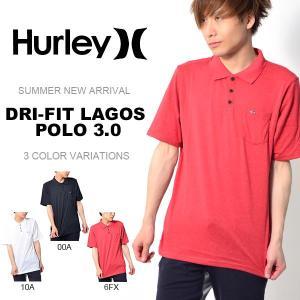 半袖ポロシャツ HURLEY ハーレー メンズ DRI-FIT LAGOS POLO 3.0 ロゴ ポロシャツ 半袖 Tシャツ トップス サーフ 2017夏新作 30%off|phants