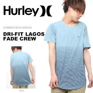 半袖Tシャツ HURLEY ハーレー メンズ DRI-FIT LAGOS FADE CREW ポケットT ポケT ボーダー Tシャツ 半袖 サーフ 2017夏新作 30%off|phants