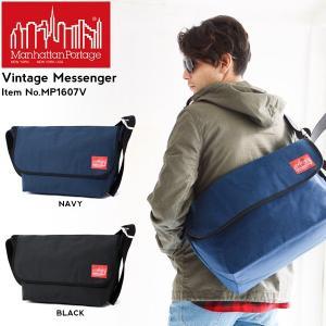 マンハッタンポーテージ ManhattanPortage ラージ ビンテージ メッセンジャーバッグ Vintage Messenger 定番 送料無料|phants