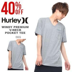 半袖Tシャツ HURLEY ハーレー メンズ WINDY PREMIUM V-NECK POCKET ポケットT ポケT Vネック トップス サーフ 2017夏新作 30%off|phants