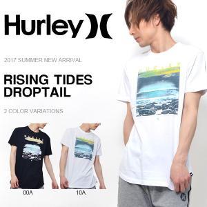 半袖Tシャツ HURLEY ハーレー メンズ RISING TIDES DROPTAIL フォトT トップス サーフ 2017夏新作 30%off|phants