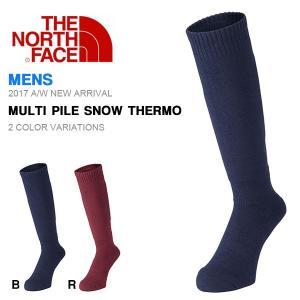 スキー スノー ソックス THE NORTH FACE ザ・ノースフェイス Multi Pile Snow Thermo マルチ パイル スノー サーモ 靴下 メンズ 2017秋冬新作 スノーボード phants