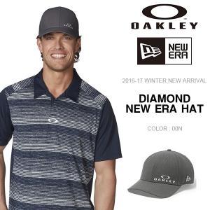 ロゴキャップ OAKLEY×NEW ERA オークリー メンズ DIAMOND NEW ERA HAT ニューエラ コラボ 帽子 CAP 2016-2017冬新作