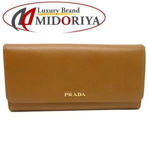 プラダ PRADA 長財布 二つ折り サフィアーノ レザー 茶系 1M1132 /043056【中古】|phasemidoriya78