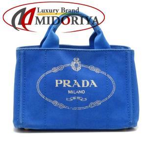 プラダ PRADA BN2439 カナパ キャンバス COBALTO ブルー トートバッグ/052051【中古】|phasemidoriya78