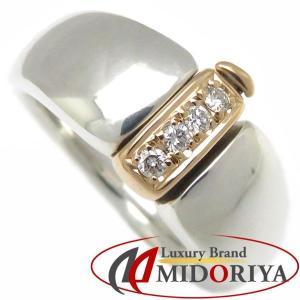 ミキモト MIKIMOTO ダイヤモンドリング ダイヤモンド4P SV925xK18YG 15号 指輪/098151【中古】 phasemidoriya78
