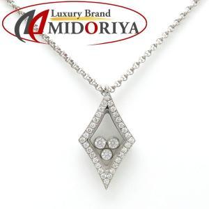 ショパール CHOPARD ハッピーダイヤネックレス ダイヤモンド 750WG 79/5796/0 ダイヤモチーフ ペンダント/098400【中古】|phasemidoriya78