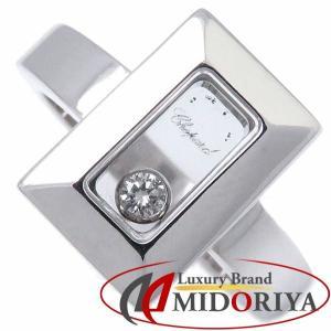 ショパール CHOPARD ハッピーダイヤリング ダイヤモンド1P 750WG 82/6729/20 スクエア 指輪/098401【中古】|phasemidoriya78