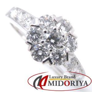 ヴァンクリーフ&アーペル Van Cleef&Arpels フルーレットリング ダイヤモンド 750WG 9号 指輪/098434【中古】|phasemidoriya78