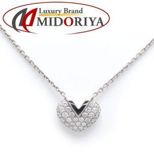 ルイヴィトン LOUIS VUITTON Vハートネックレス ダイヤモンド 750WG Q93547 ペンダント/098454【中古】【中古】|phasemidoriya78