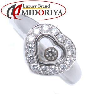 ショパール CHOPARD ハッピーダイヤハートリング ダイヤモンド 750WG 8号 82/1084 指輪/098504【中古】|phasemidoriya78