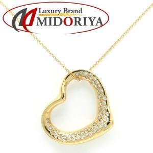 ティファニー TIFFANY オープンハートネックレス ダイヤモンド 18KYG ペンダント/098714【中古】|phasemidoriya78