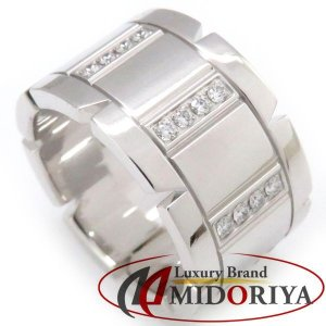 カルティエ Cartier タンクフランセーズリング LM ハーフダイヤモンド 750WG #49 9号 B4054700 指輪/098753【中古】|phasemidoriya78