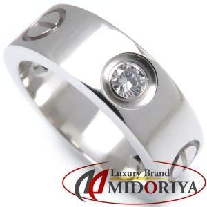 カルティエ Cartier ラブリング ダイヤモンド3P 750WG #47 7号 B4032500 指輪/098754【中古】|phasemidoriya78