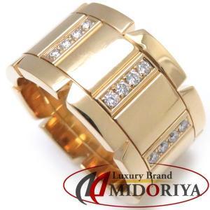 カルティエ Cartier タンクフランセーズリング LM ハーフダイヤモンド 750YG #52 11.5号 指輪/098755【中古】|phasemidoriya78