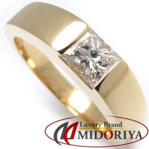 カルティエ Cartier タンクリング ダイヤモンド1P 0.45ct 750YG #51 11号 指輪/098761【中古】|phasemidoriya78