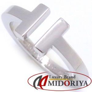 ティファニー TIFFANY Tスクエアリング 750WG 12.5号 指輪/098863【中古】|phasemidoriya78