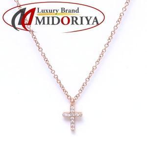 ティファニー TIFFANY クロスネックレス ダイヤモンド 750PG ペンダント/098864【中古】|phasemidoriya78