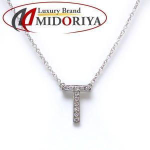 ティファニー TIFFANY イニシャルTネックレス ダイヤモンド Pt950 アルファベット ペンダント/098865【中古】|phasemidoriya78