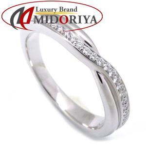 ハリーウィンストン HARRY WINSTON ワンロウパヴェバンドリング ダイヤモンド Pt950 プラチナ 11号 指輪 /099036 【中古】|phasemidoriya78