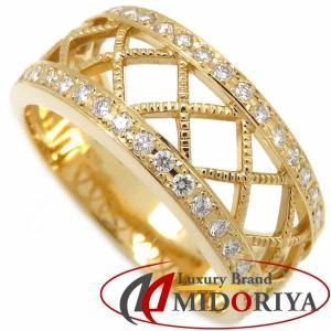ミキモト MIKIMOTO ダイヤモンドリング ダイヤモンド0.30ct K18YG 20号 イエローゴールド 指輪/099142【中古】|phasemidoriya78
