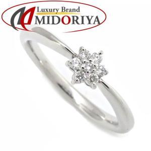 ミキモト MIKIMOTO ダイヤモンドリング ダイヤモンド0.05ct 7P K18WG 7.5号 ホワイトゴールド 指輪/099219【中古】|phasemidoriya78