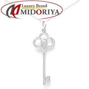 ティファニー Tiffany & Co. ネックレス クラウンキー ダイヤモンド 750WG ホワイトゴールド ペンダント/099359【中古】 phasemidoriya78