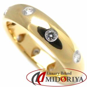 ティファニー Tiffany & Co. ドッツ リング ダイヤモンド10P 750YGxPt950 9号 イエローゴールド 指輪/099420【中古】 phasemidoriya78