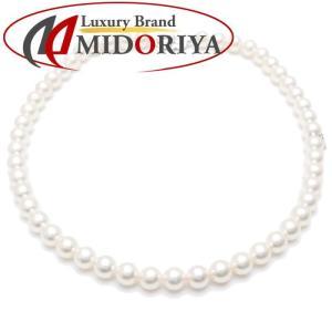ミキモト MIKIMOTO パールネックレス 真珠8.0〜8.5ミリ 43cm K18WG ホワイトゴールド/099503【中古】|phasemidoriya78