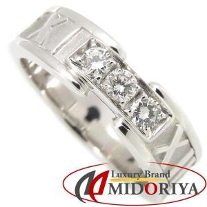ティファニー Tiffany & Co. アトラスリング ダイヤモンド3P 750WG 11号 ホワイトゴールド 指輪/099510【中古】 phasemidoriya78