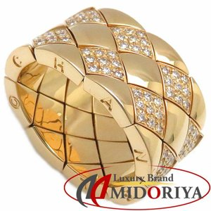 シャネル CHANEL マトラッセ リング ダイヤモンド K18YG #52 12号 750イエローゴールド 指輪/099711【中古】|phasemidoriya78