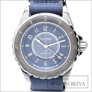 シャネル CHANEL J12 G.10 H4338 ブルー文字盤 メンズ 腕時計 /34910 【中古】 phasemidoriya78