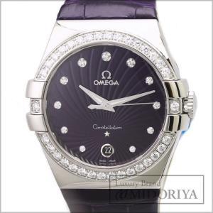 オメガ OMEGA コンステレーション ダイヤベゼル 123.18.35.60.60.001 ボーイズ パープル クォーツ 腕時計 /34935 【未使用】ユニセックス|phasemidoriya78