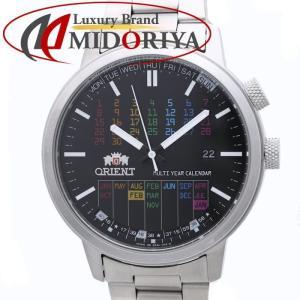 オリエント ORIENT スタイリッシュ&スマート マルチイヤーカレンダー レインボー メンズ 腕時計 /34941 【中古】|phasemidoriya78