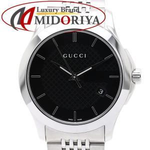 グッチ GUCCI Gタイムレス 黒文字盤 YA126402 メンズ クォーツ 腕時計 /34946 【中古】|phasemidoriya78