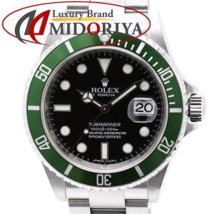 ロレックス ROLEX グリーン サブマリーナ デイト 16610LV メンズ M番 腕時計 /34948 【中古】|phasemidoriya78