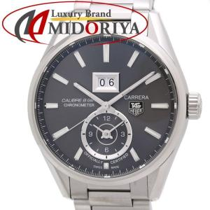 タグホイヤー TAG HEUER カレラ グランドデイト GMT WAR5012.BA0723 キャリバー8 グレー 腕時計 /34973 【中古】|phasemidoriya78