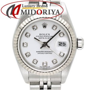 ロレックス ROLEX デイトジャスト レディース 79174G SS/WG 10Pダイヤモンド ホワイト文字盤 腕時計 /34990 【中古】|phasemidoriya78