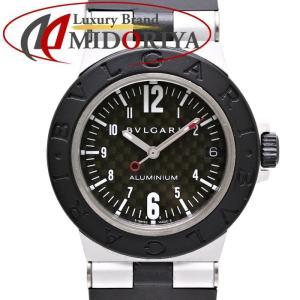 ブルガリ BVLGARI アルミニウム カーボン ラバーベルト デイト クォーツ レディース AL32TA /35029 【中古】 腕時計|phasemidoriya78