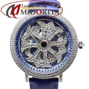 BRILLAMICO ブリラミコ レディース LILY 40mm ブルー スワロフスキー /35046 【中古】 腕時計 phasemidoriya78